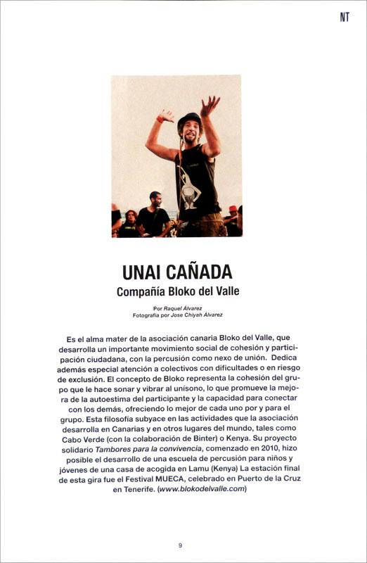 Unai Cañada en la revista NT de noviembre, de la compañía aérea canaria BINTER (1/3)